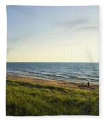 Lake Michigan Shoreline 01 Fleece Blanket