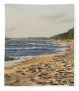 Lake Michigan Shoreline 03 Fleece Blanket