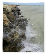 Lake Michigan Splash Fleece Blanket