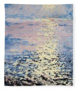Lake Michigan Sunrise Fleece Blanket