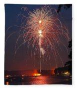 Lake Of Fire Fleece Blanket
