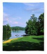 Lake On A Golf Course, Legend Course Fleece Blanket