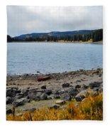 Lake On The Grand Mesa Colorado Fleece Blanket