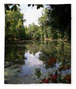Lake On The Plantation Fleece Blanket