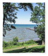 Lake Ontario At Webster Park Fleece Blanket
