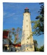Lake Park Light House 2 Fleece Blanket