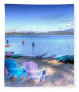Lake Quinault Dream Fleece Blanket