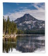 Lake Reflection Fleece Blanket