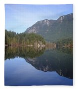Buntzen Lake, Bc Reflections Fleece Blanket
