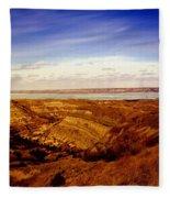 Lake Sakakawea North Dakota Fleece Blanket