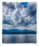 Lake Santeetlah In Great Smoky Mountains Nc Fleece Blanket