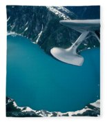 Lake Seen From A Seaplane Fleece Blanket