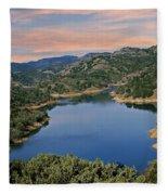 Lake Sonoma - California Fleece Blanket