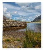 Lake Stone Wall Fleece Blanket