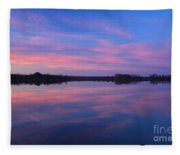 Lake Sunrise Fleece Blanket