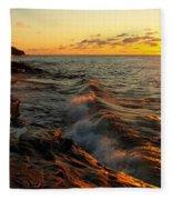 Lake Superior Dawn Fleece Blanket