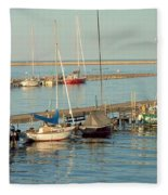 View Of The Harbor Fleece Blanket
