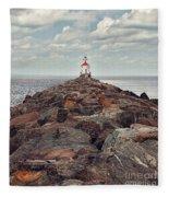 Lake Superior Light House Fleece Blanket