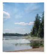 Up North - Lake Superior Misty Beach Fleece Blanket