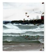 Lake Superior Storm Fleece Blanket