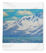 Lake Tahoe After The Storm Triptych Fleece Blanket