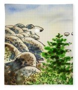 Lake Tahoe - California Sketchbook Project Fleece Blanket