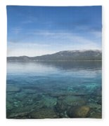 Lake Tahoe Calm Fleece Blanket
