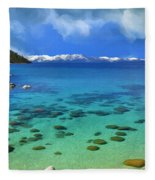 Lake Tahoe Cove Fleece Blanket