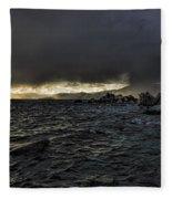 Lake Tahoe Drama Fleece Blanket