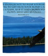 Lake Tahoe Eagle Proverbs Fleece Blanket