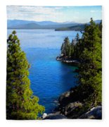 Lake Tahoe From The Rubicon Trail Fleece Blanket