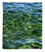 Lake Tahoe Swirls Abstract Fleece Blanket
