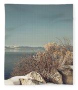 Lake Tahoe Winter Fleece Blanket