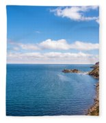 Lake Titicaca Coastline  Fleece Blanket