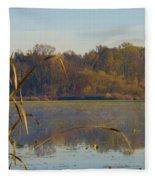 Lake Towhee In Autumn Fleece Blanket