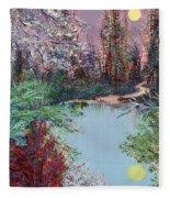 Lake Tranquility Fleece Blanket