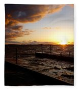 Lake Waconia Sunset Fleece Blanket