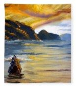 Lake Wahatipu Queenstown Nz Fleece Blanket