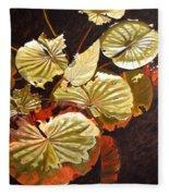 Lake Washington Lily Pad 11 Fleece Blanket