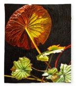 Lake Washington Lily Pad 18 Fleece Blanket