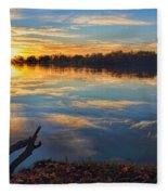 Memorial Park Sunset Fleece Blanket
