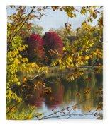 Lake Winona Autumn 15 Fleece Blanket