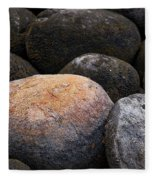 Lakeside Rocks At Lake Annette Fleece Blanket