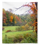 Lamance Valley In The Fall Fleece Blanket