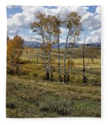 Lamar Valley In The Fall - Yellowstone Fleece Blanket
