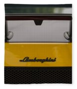 Lambo Logo Yellow Fleece Blanket