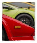 Lamborghini Countach Nose Fleece Blanket