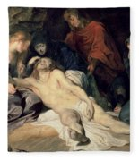 Lament Of Christ Fleece Blanket