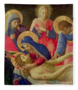Lamentation Over The Dead Christ Fleece Blanket
