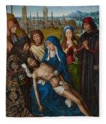 Lamentation With Saint John The Baptist And Saint Catherine Of Alexandria Fleece Blanket